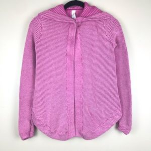 Ivivva Pink Hooded Moon & Back Sweater Cardigan 12
